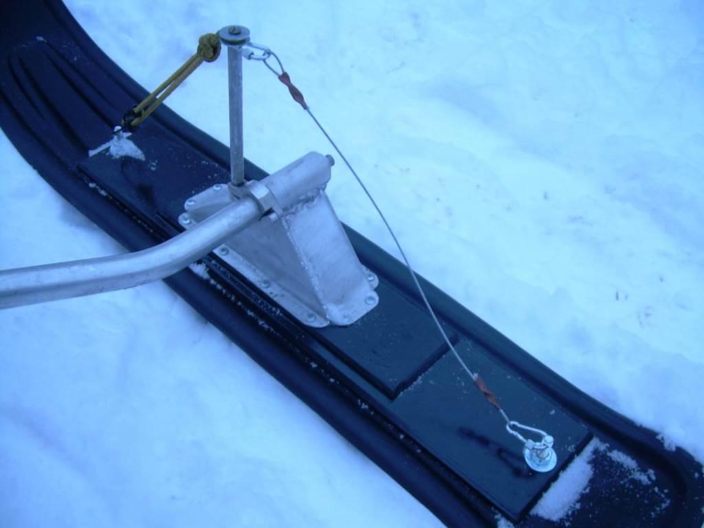 Лыжи на снегоход своими руками из трубы 32
